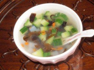 黄瓜减肥汤的做法